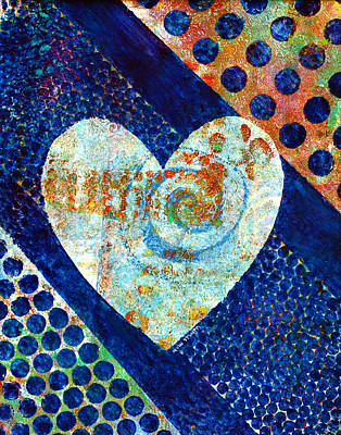 Modern Painting - Heart Of Hearts Series - Elated by Moon Stumpp