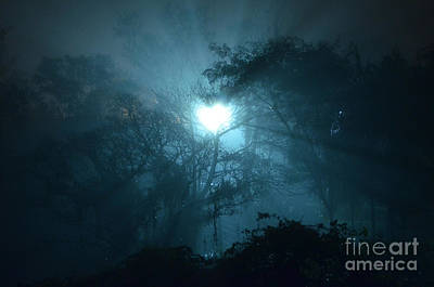 Photograph - Heart Of Light On A Foggy Night Sky by Carlos Alkmin