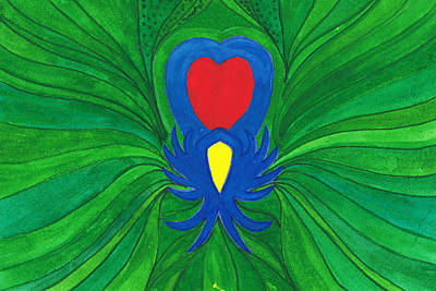 Heart Of Love.mexico Art Print