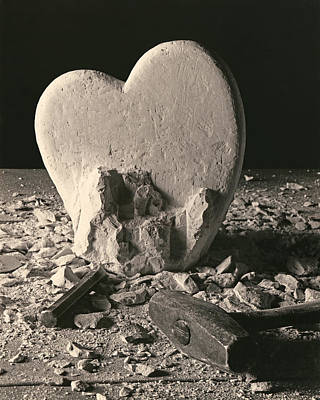 Sculpture - Heart Of Stone C1978 by Paul Ashby
