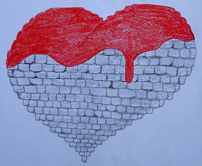 Heart Stone Drawing - Heart Of Stone by Dayna Lopez