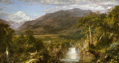 Andes Wall Art - Painting - Heart Of The Andes by Frederic Edwin Church