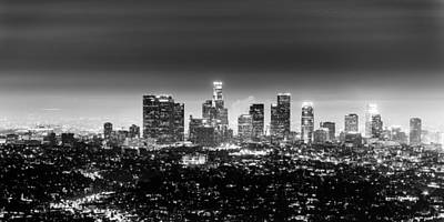Photograph - Heart Of The City Black And White Panorama by Jason Chu