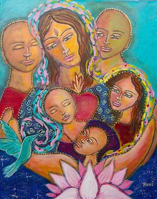 Shiloh Sophia Art Painting - Heart Of The Family by Havi Mandell