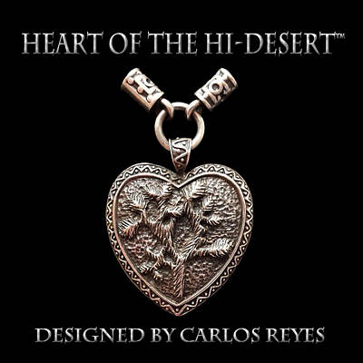 Sterling Silver Jewelry - Heart Of The Hi Desert Joshua Tree Pendant by Carlos Reyes