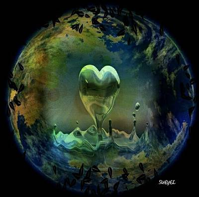 Digital Art - Heart Of The Mother by Sueyel Grace