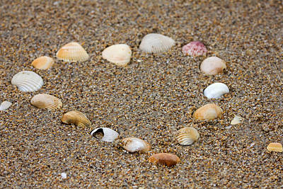 Photograph - Heart On Beach by Dorothy Cunningham