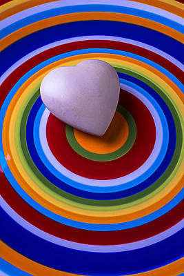 Photograph - Heart On Circle Plate by Garry Gay