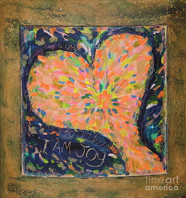 Heart On Curved Wood Art Print by Kelly Athena