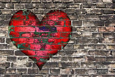 Railroad - Heart On The Old Wall by Michal Boubin