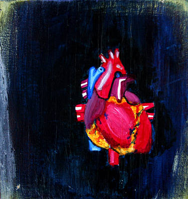 Painting - Heart On Wood by Khryztof Holtwick