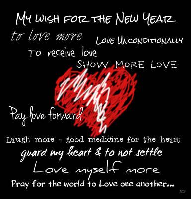 For Pay Digital Art - Heart - Pay Love Forward by Absinthe Art By Michelle LeAnn Scott