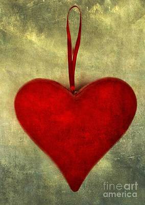 Heart Shape Art Print by Bernard Jaubert