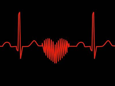 Heart-shaped Ecg Trace Art Print