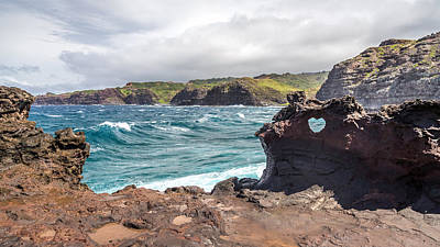 Photograph - Heart Shaped Hole At Nakalele by Pierre Leclerc Photography