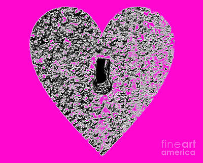 Royalty-Free and Rights-Managed Images - Heart Shaped Lock - Pink by Al Powell Photography USA