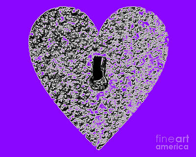 Royalty-Free and Rights-Managed Images - Heart Shaped Lock - Purple by Al Powell Photography USA