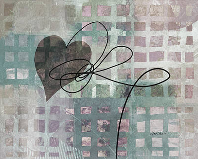 Painting - Heart String Abstract- Art  by Ann Powell