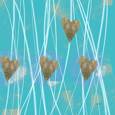 Painting - Heart Strings  Abstract Art  by Ann Powell