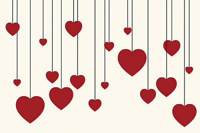 Valentines Day Digital Art - Heart Strings by Chastity Hoff