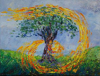 Pallet Knife Painting - Heart Strings by William Killen