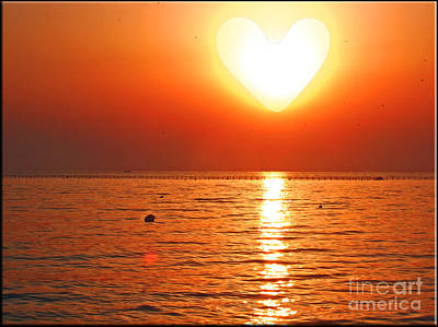 Photograph - Heart Sun by Nina Ficur Feenan