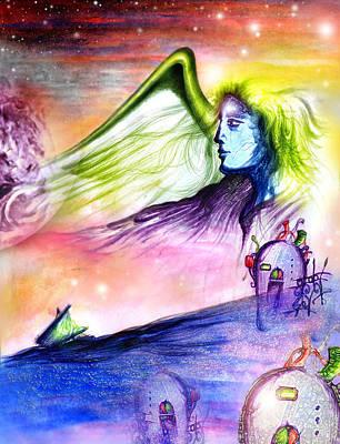 El Amor Painting - Heart That Sails by Ruben Santos