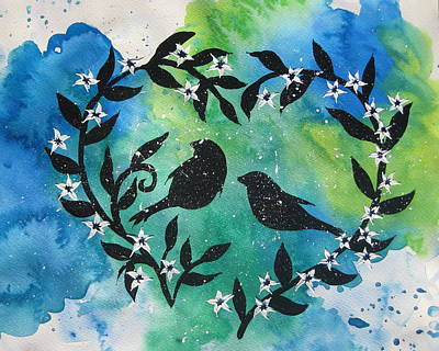 Catherine White Painting - Heart Tree by Cathy Jacobs