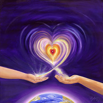 Gostanza Painting - Heart Unity by Teresa Gostanza