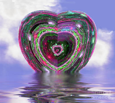 Digital Art - Heart Up by Dee Flouton