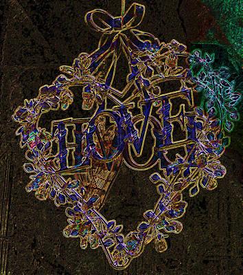 Digital Art - Heart With Love 2 by Jenny Rainbow