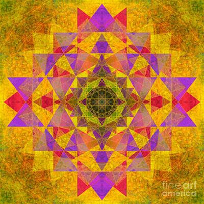 Prana Wall Art - Photograph - Heart Yantra Om Mandala  by Susan Bloom