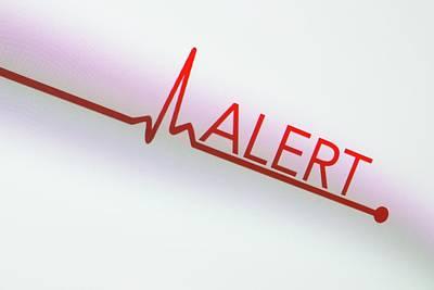 Heartbeat Alert Art Print by Daniel Sambraus