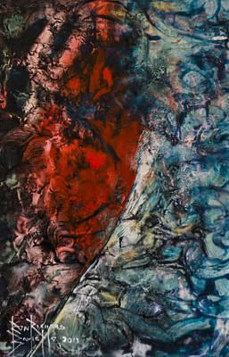 Art Print featuring the painting Heartfelt by Ron Richard Baviello