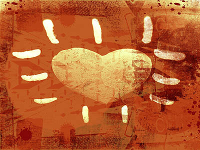 Grunge Digital Art - Hearth by Modern Art Prints