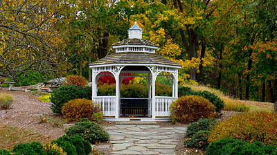 Photograph - Hearthstone Castle Park Gazebo by Stephen Melcher