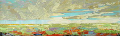 Landscape Wall Art - Painting - Heartland Series/ Big Sky by Marilyn Hurst
