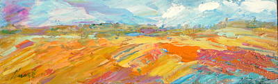 Landscape Wall Art - Painting - Heartland Series/ Ranchlands by Marilyn Hurst