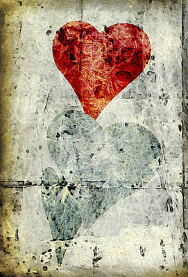 Photograph - Hearts 1 by Edward Fielding