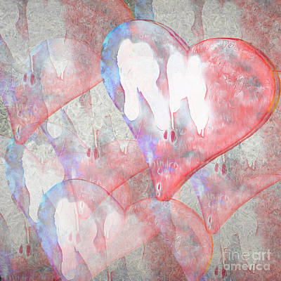 Abstract Hearts Photograph - Hearts 15 Square by Edward Fielding