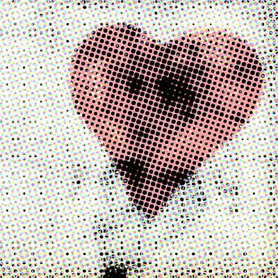 Abstract Hearts Photograph - Hearts 21 Square by Edward Fielding