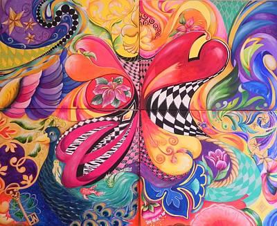 Heart's Abound Art Print by Jill Alexander