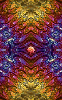 Digital Art - Hearts And A Flower by Lea Wiggins