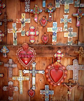 Folkart Photograph - Hearts And Crosses by Karyn Robinson