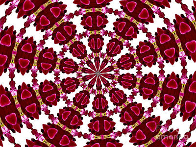 Photograph - Hearts And Orchids Kaleidoscope by Rose Santuci-Sofranko