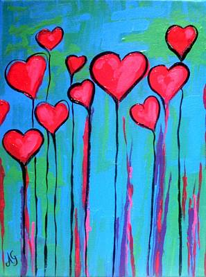 Painting - Hearts by Anne Gardner