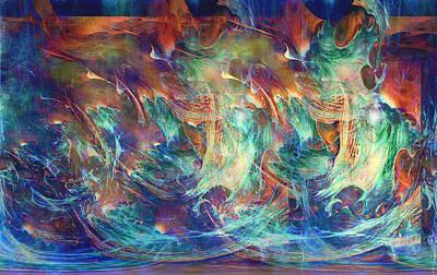 Abstract Hearts Digital Art - Hearts At Sea by Linda Sannuti