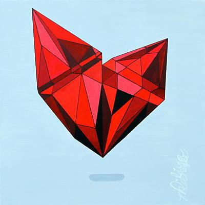 Aaliyah Painting - Hearts Bulletproof by Aliya Michelle