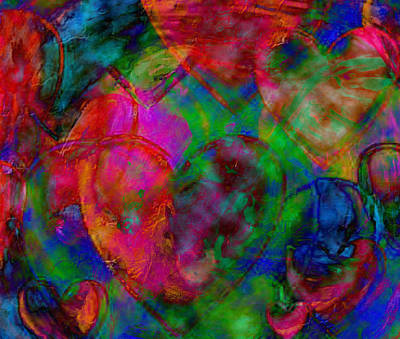 Digital Art - Hearts Come In Many Shapes And Colours by Dorothy Berry-Lound