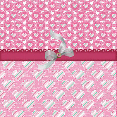 Valentines Day Digital Art - Hearts by Debra  Miller